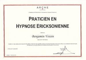 Diplôme - ARCHE - Praticien en Hypnose Ericksonienne
