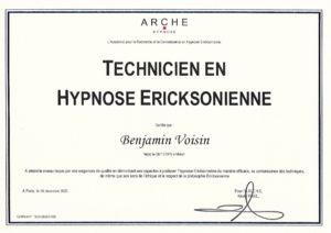 Diplôme - ARCHE - Tecnicien en Hypnose