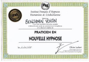 Diplôme - IFHE - Praticien en Nouvelle Hypnose