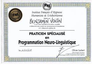 Diplôme - IFHE - Praticien en PNL