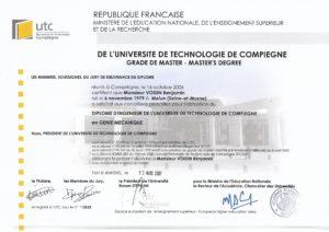Diplôme - UTC - Ingénieur